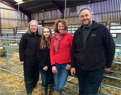 Kate Humble with Jane, Simon and Arabella