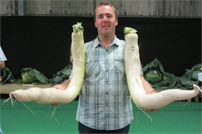 Kevin and his giant radish