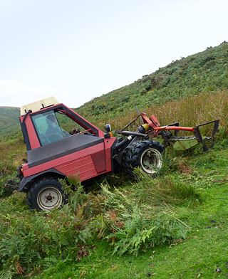 Innovative bracken harvesting machine