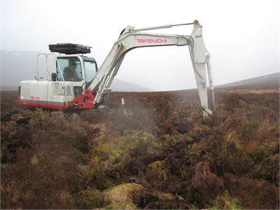 Peat bog restoration in progress